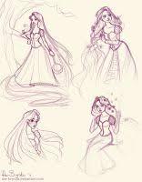 rapunzel sketches by vanipy05 on deviantart
