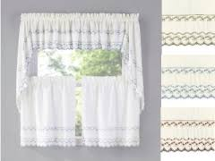 Ruffled Kitchen Curtains by Kitchen Curtains Tiers Swags Valances Lace Kitchen Curtains
