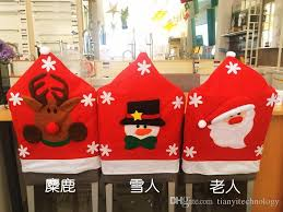 santa hat chair covers santa clause hat chair covers home decor christmas