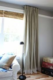Cheap Long Length Curtains Make Extra Long Curtains Using Inexpensive Bed Bath And Beyond