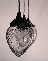 Black Glass Ceiling Light Style Cut Glass Pineapple Pendant Ceiling Light Penyard Vintage