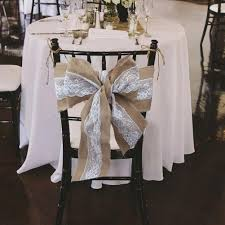 lace chair sashes 2018 240 x 15cm lace bowknot burlap chair sashes hessian