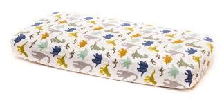dino friends cotton muslin crib sheet by little unicorn