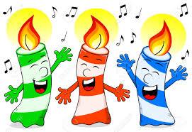 singing birthday vector illustration of birthday candles singing a birthday