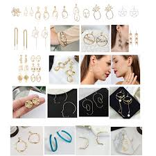 human earrings aliexpress buy new creative abstract metal hollow human