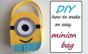 diy easy minion felt bag despicable me inspired craft for
