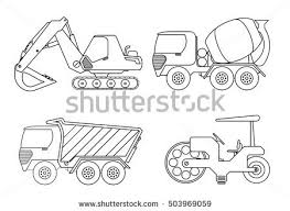 truck coloring book kids vector illustration stock vector