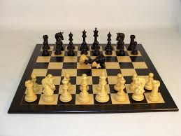 ebony parthenon wood chessmen with black birdseye wooden chess