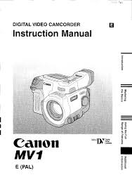 canon camcorder mv 1 user guide manualsonline com