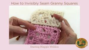 how to join crochet squares completely flat zipper method how to invisibly seam granny squares youtube