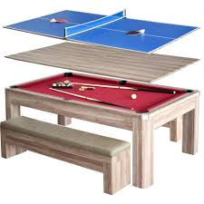 Dining Table Pool Hathaway Newport 7 Ft Pool Table Combo Set With Benches Bg2535p