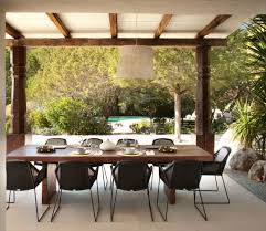 Modern Outdoor Dining Furniture Modern Ibiza Home Gives Coziness A Luxurious Look