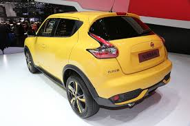 nissan juke yellow spoiler 2015 nissan juke refresh rolls into geneva automobile magazine