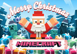 christmas wallpaper of minecraft game