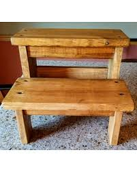 new shopping special rustic two step stool wood step stool wood