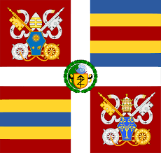 White Cross On Red Flag War Flag For The Vatican City Vexillology