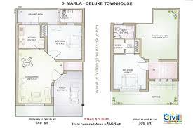 home design 6 marla 3 marla delux floorplan civil engineers pk