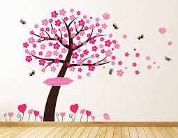 princess blossom tree wall stickers by parkins interiors