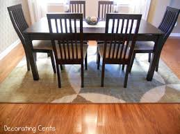 decorating cents dining room rug