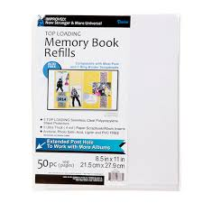 4x6 photo pages for 3 ring binder 85 x 11 page protectors scrapbook or photo album refill pages