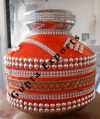 Ideas For Diwali Decoration At Home by Decorative Copper Kalash Moti Work Wall Stickers Pinterest
