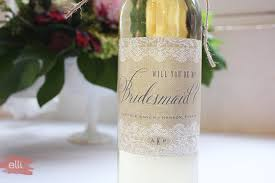 will you be my bridesmaid wine labels diy removing wine labels for bridesmaid gifts the elli