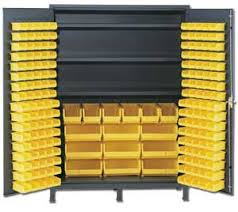 Yellow Metal Storage Cabinet Bin Cabinet Bin Storage Cabinets A Plus Warehouse