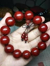 red beads bracelet images Red sandalwood 20 mm bracelet at rs 1 piece wood bead bracelet jpeg