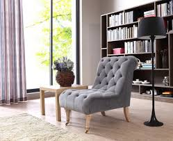 divani casa phoebe modern grey tufted accent chair lounge