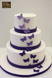 butterfly wedding cake purple ombre butterfly wedding cake the hudson cakery