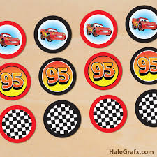 cars cake toppers printable disney cars lightning mcqueen cupcake toppers