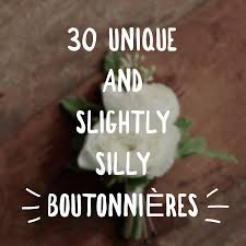 boutonniere cost 30 unique and slightly silly boutonnières