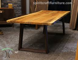 live edge table chicago beautiful sycamore live edge table on solid walnut trapezoid legs