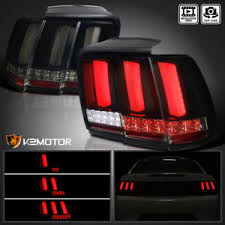 99 04 mustang sequential tail light kit 99 04 mustang glossy black sequential led smoke lens tail lights
