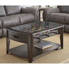 Coffee Table Store Walnut Brown Coffee Table With Foosball Diletta Rc Willey