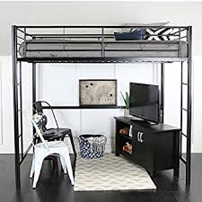Full Size Loft Beds With Desk by Amazon Com Dhp X Loft Bunk Bed Kitchen U0026 Dining
