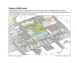 Floor Plan Auto Dealer by Reimagining South Portland U0027s Downtown Plan Gives Mill Creek An