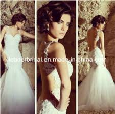 china mermaid bridal wedding gown backless lace bridal gowns a212