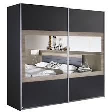 Schlafzimmer Komplett Bett Schwebet Enschrank Rauch Rauch Schlafzimmer Set Tarragona 180x200cm Bett Anthrazit Eiche