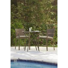 Patio Furniture For Balcony by Cosco Outdoor 3 Piece High Top Bistro Lakewood Ranch Steel Woven
