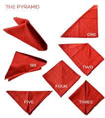 how to make table napkins table napkin folding procedures pyramid easy origami