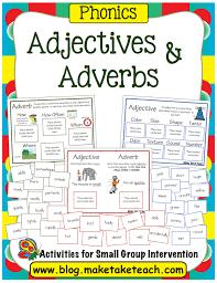 nouns verbs and adjectives make take u0026 teach