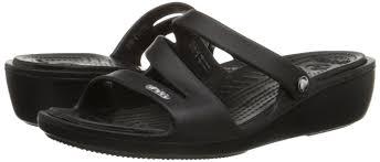 womens crocs patricia women wedge sandals size 10 in black ebay