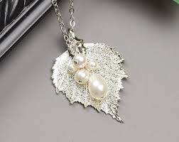 silver leaf necklace pendant images Real leaf earrings sterling silver silver dipped leaves jpg