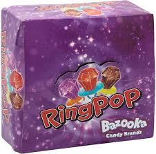 where to buy ring pops bazooka ring pop candy strawberry cola and black currant flavour