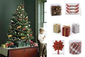martha stewart decorated christmas trees ne wall