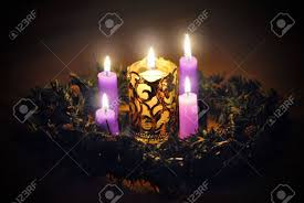 advent wreath candles advent wreath candles three purple and one pink light the