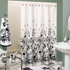 Black And White Shower Curtains Design Glos Faves Pinterest - Bathroom curtains designs