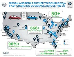 nissan leaf quick charge time nissan and bmw partner once again to expand dc fast charger access
