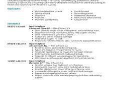 Receptionist Resume Template Innovation Inspiration Receptionist Resume Templates 14 Best